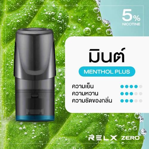RELX Zero Classic Pod Flavor Menthol Plus Mint